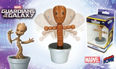 Make Groot Move & Groove! New Variant Push Puppet with Silver Base