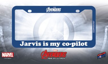 J.A.R.V.I.S. Joins You on the Road with New License Plate Frame