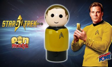 Star Trek: TOS Captain Kirk Pin Mate™ Beams into Stock at Entertainment Earth