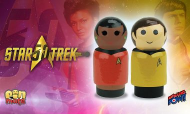 Star Trek: TOS Uhura and Chekov Pin Mate™ Wooden Figures Now In Stock!