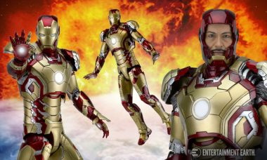 Take the Mark 42 Suit out for a Test Flight with This NECA Iron Man Figure