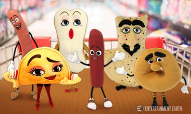 Get the Cookout Started with Sausage Party Small Plush Case