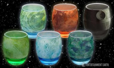 The Star Wars Planetary Glassware goes Great with Bantha Milk