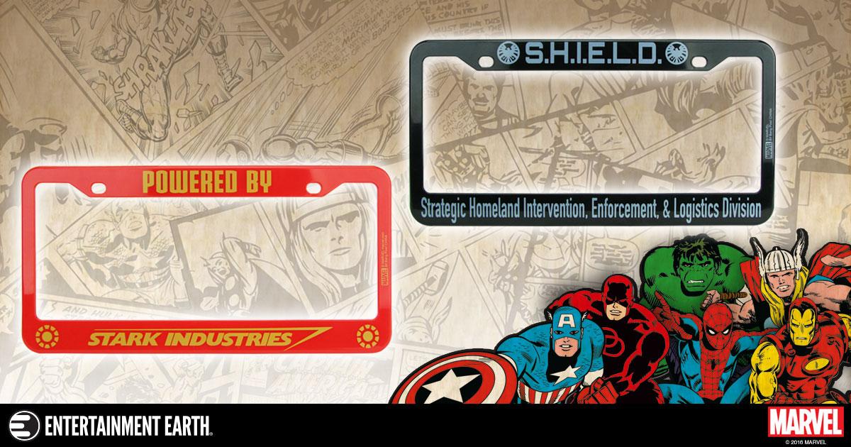 Marvel Avengers License Plate Frames In Stock For The
