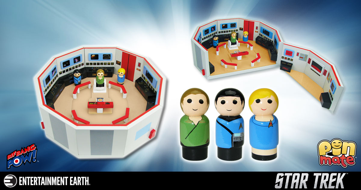 Bif Bang Pow Star Trek Pin Mate Playset Bridge