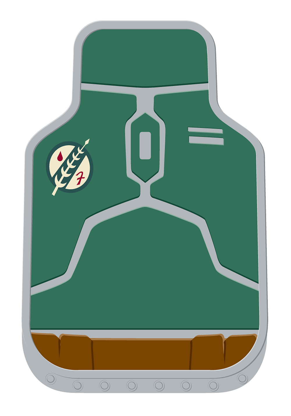 Star Wars Boba Fett Floor Mat