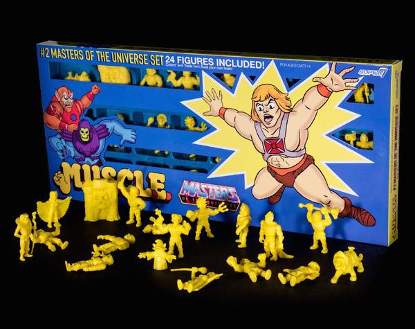 Masters of the Universe M.U.S.C.L.E. Mini Figure Wave 2 Yellow 24-Pack - Convention Exclusive