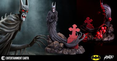 Batman Goes Vamp for This Red Rain Statue