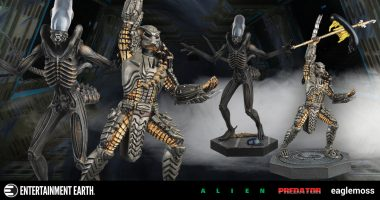 Alien and Predator Face Off in New Eaglemoss Statues