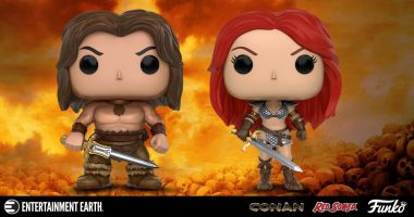You'll Let Out a Battle Cry Over These Conan and Red Sonja Pop! Vinyl Figures