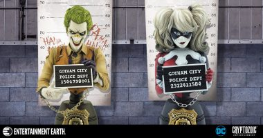 Gotham's Terrible Twosome Are All Smiles for Their Mugshots in These Cryptozoic Busts