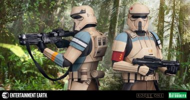 Hang Ten with This Scarif Stormtrooper ArtFX+ Statue 2-Pack