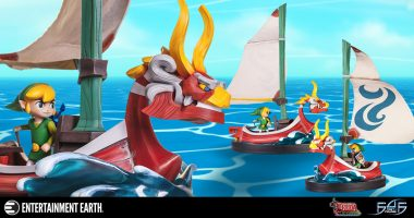 Link Takes to the High Seas in This Stunning Statue