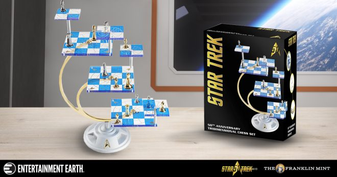 Celebrate 50 Years Of Star Trek With New Tridimensional Chess Set