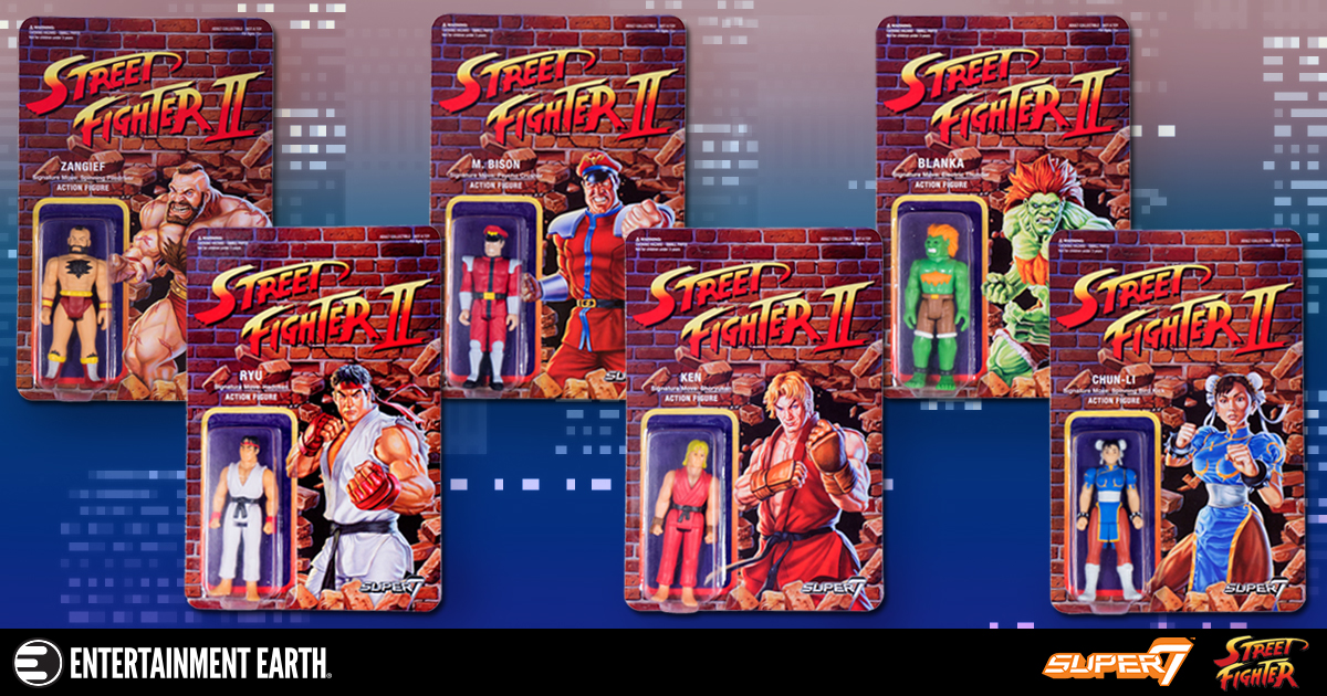 Super 7 Street Fighter II Retro Action Figures