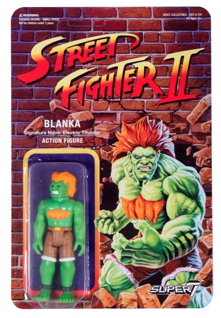 Street Fighter II Retro Action Figures Blanka