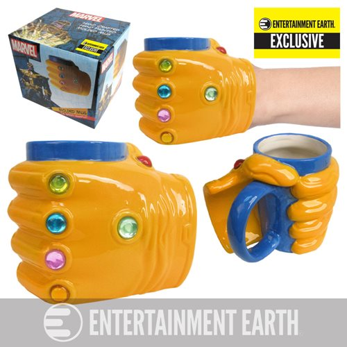Marvel Thanos Infinity Gauntlet 16 oz. Prop Replica Molded Mug - Entertainment Earth Exclusive