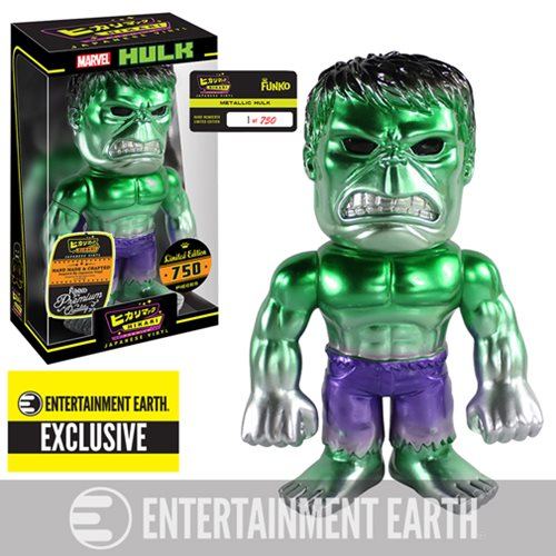 Hulk Metallic Premium Hikari Sofubi Vinyl Figure - Entertainment Earth Exclusive