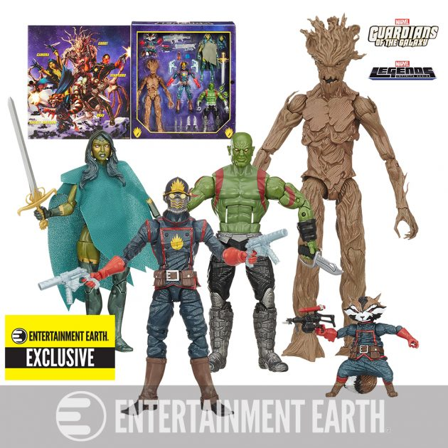 Guardians of the Galaxy Comic Edition Marvel Legends Action Figure Set - Entertainment Earth Exclusive
