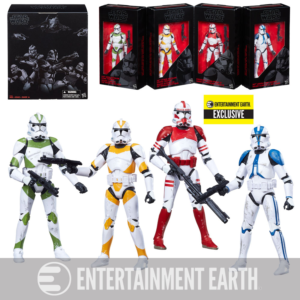 Star Wars The Black Series Clone Troopers of Order 66 6-Inch Action Figures - Entertainment Earth Exclusive