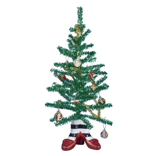 The Wizard of Oz Witch Legs 18-Inch Mini Tinsel Tree