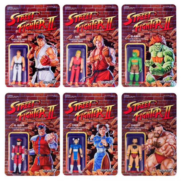 Street Fighter II Retro Action Figures Carded