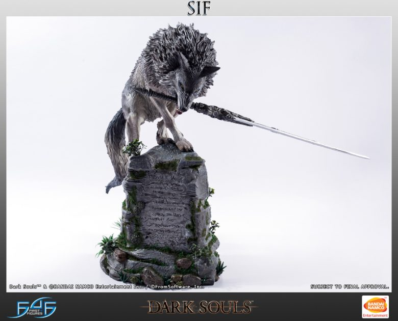 Dark Souls Sif the Great Grey Wolf Statue