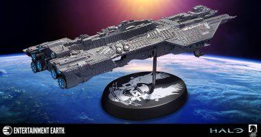 Take the Helm of the Spirit of Fire Ship Replica Statue