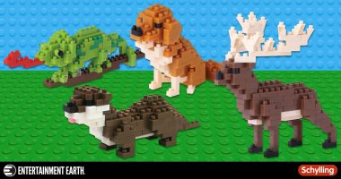 Adorably Cute and Constructible Block Animal Figures