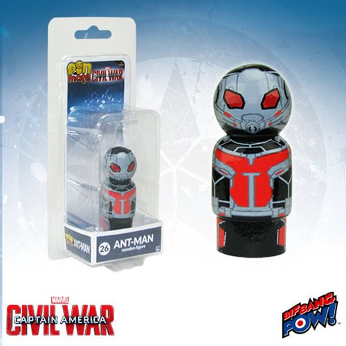 Captain America: Civil War Ant-Man Pin Mate Wooden Figure
