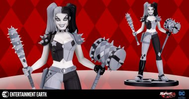Harley Is Ready to Party as New Black and White Statue
