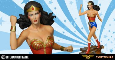 See Lynda Carter's Wonder Woman Change the World: Beautiful New Tweeterhead Wonder Woman Maquette