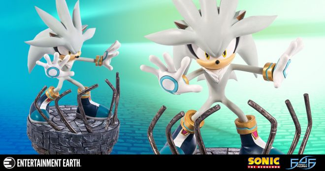 silver the hedgehog stands tall in the 3 d world with this