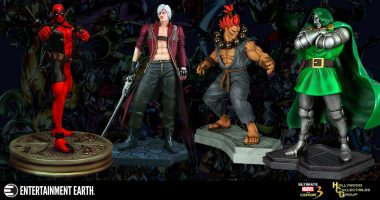 Huge Marvel vs. Capcom Statues Take on All Challengers. Which Fighter Would You Choose?