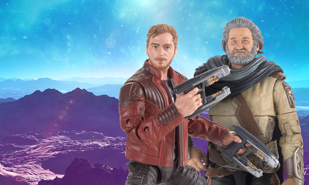 Guardians of the Galaxy Vol. 2 Marvel Legends Ego and Star-Lord 6-Inch Action Figures