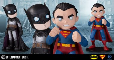 The Man of Steel and the Dark Knight Get Two New Statues