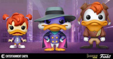 """""""Let's Get Dangerous"""" with These Darkwing Duck Funko Pop! Figures"""
