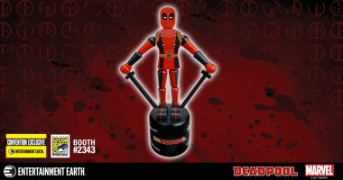 Enjoy Retro Irreverence with the Deadpool Wooden Push Puppet – SDCC Exclusive