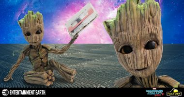 Rock out with This Groot Premium Motion Statue