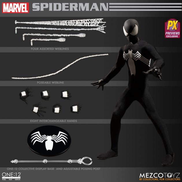 Spider-Man Black Suit One:12 Collective Action Figure - Previews Exclusive-Man_wp07