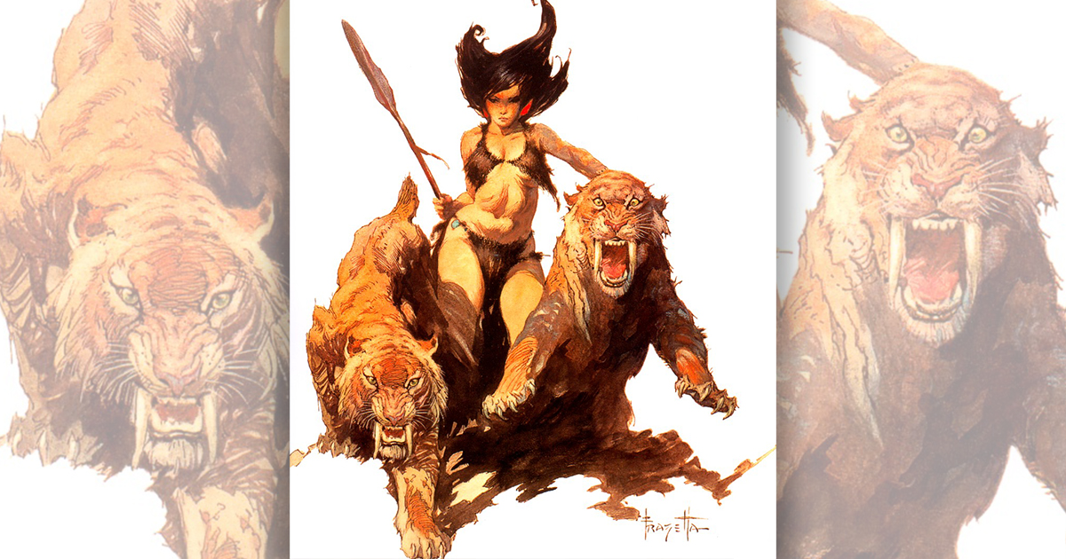 Huntress by Frank Frazetta
