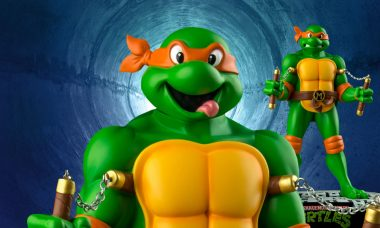 Cowabunga! New Ninja Turtles Mikey Statue is Totally Rad!