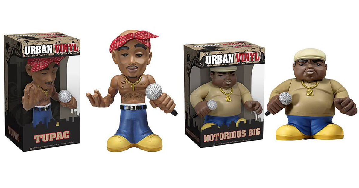 Tupac and Notorious BIG Urban Vinyl Figures