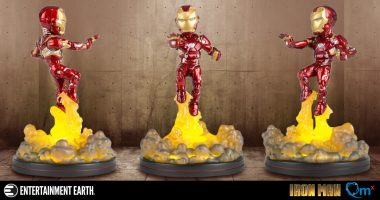 Iron Man Blasts off in a New Light-Up Q-Fig FX Diorama