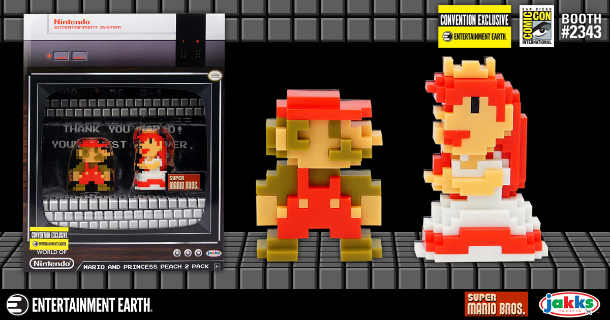 Exclusive Nintendo 8 Bit Mario And Peach Mini Figure Set