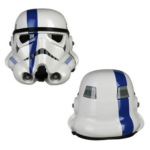 Star Wars Imperial Stormtrooper TK Commander Trooper Blue Variant Helmet Prop Replica