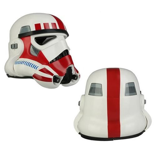 Star Wars Imperial Stormtrooper TK Shock Trooper Red Variant Helmet Prop Replica