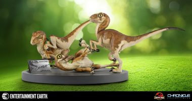 This Baby Raptors Statue Proves That Life, Uh, Finds a Way