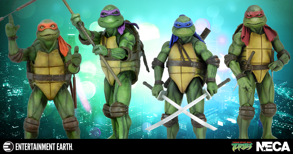 Grab A Slice With All The NECA 40040 Scale Teenage Mutant Ninja Turtles Unique Neca 1 4 Display Stand