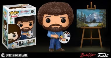 Get Ready to Paint Some Happy Little Trees with the Bob Ross Funko Pop!